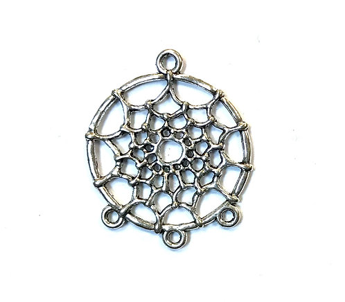 Chandelier Dreamcatcher Connector, Silver Tone