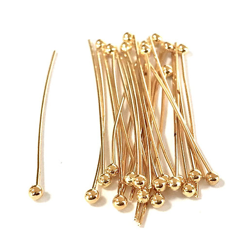 Ball Pin 3cm - Light Gold Plated