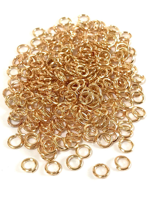 4mm Jump Rings - Light Gold Plated