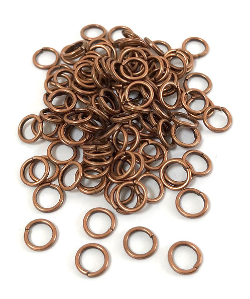 6mm Jump Rings - Copper Plated
