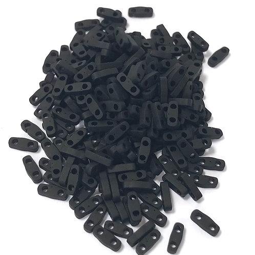Miyuki Quarter Tila Beads - Matte Black
