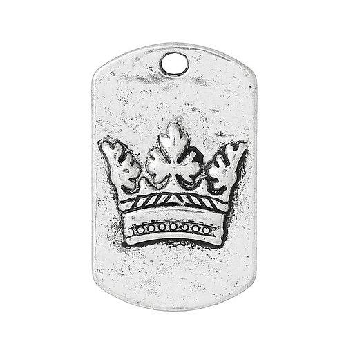 Crown Tag - Silver