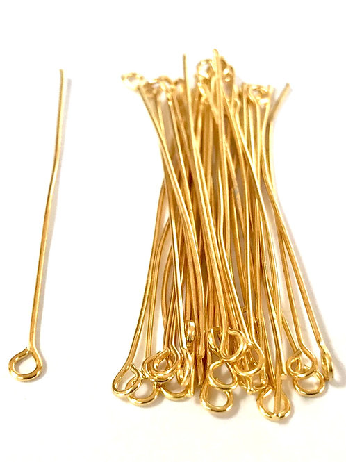 Eye Pins 5cm - Gold Plated