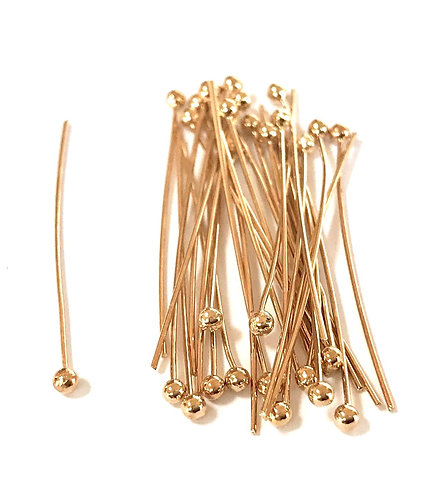 Ball Pin 3cm - Rose Gold Plated