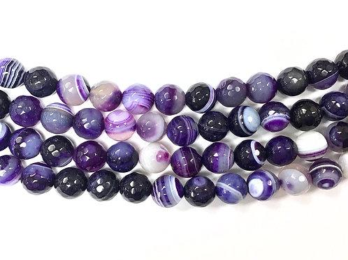 10mm Agate Beads - Purple