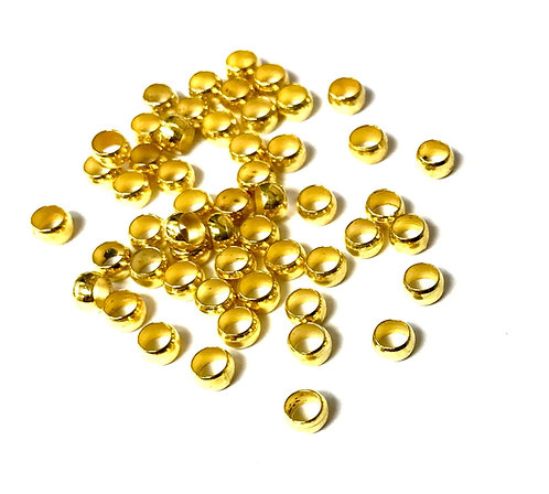 Crimps, Gold Plated - Size 4mm