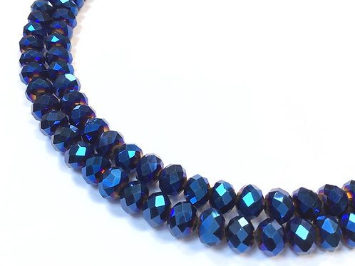 8mm blue ab crystal glass beads