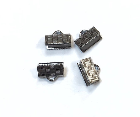 Stainless Steel Ribbon Crimp Ends - 10mm