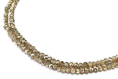 Crystal Glads Rondelle 4mm gold