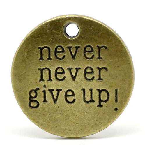 Never Give Up Token - Bronze