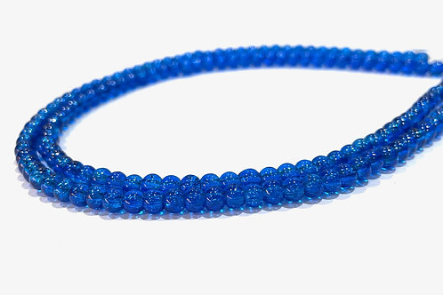4mm crackle glass beads blue
