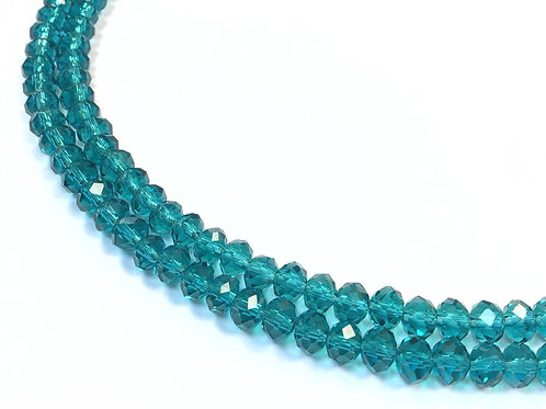crystal glass beads green 6mm