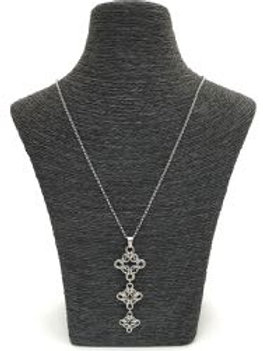 long handmade chain maille necklace