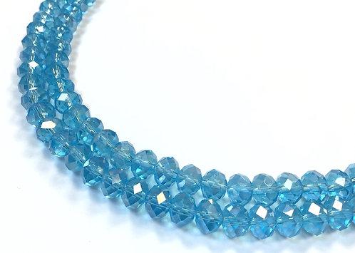 8mm sky blue crystal glass beads