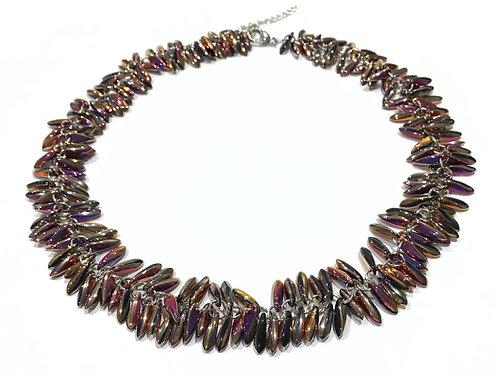 handmade pink necklace