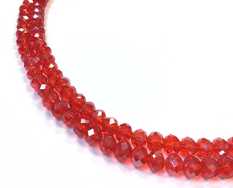 8mm red crystal glass beads