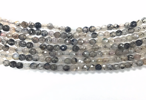 4mm Agate Beads - Grey