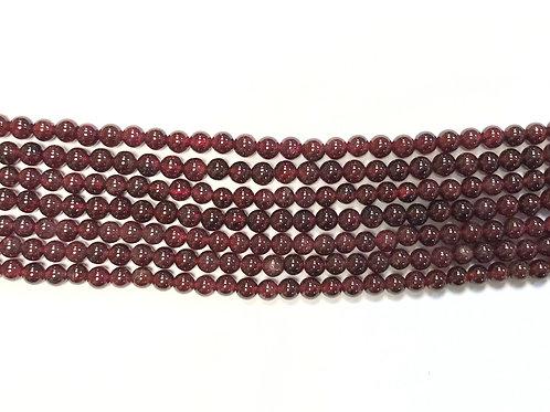 4mm Garnet Beads