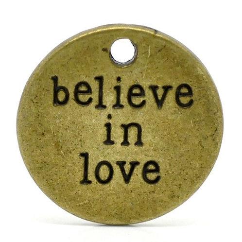Believe in Love Token - Bronze
