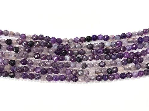 4mm Agate Beads - Purple