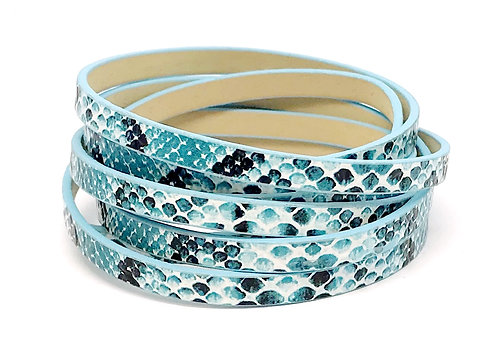 Flat Cord 5 x 2mm - Turquoise Snakeskin