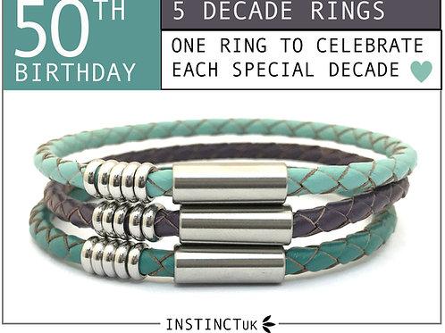 50th BIRTHDAY BRACELET FOR HER   Women's Birthday Gift