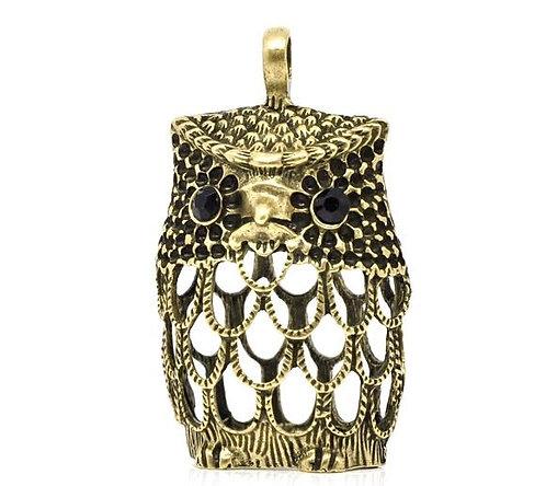 Large Hollow Owl - Bronze