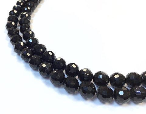 Black Round Crystal Glass Beads