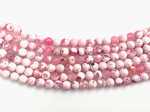 6mm Agate Beads - Pastel Pink Mix