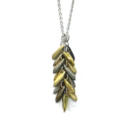 handmade gold feather necklace