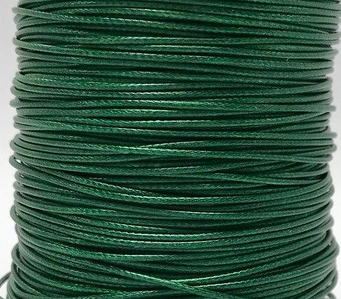 Wax Cotton Cord 1mm - Green