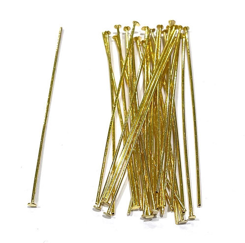 Head Pins 5cm - Gold Plated