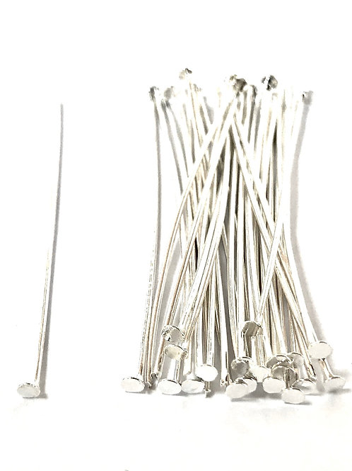 silver plated head pins
