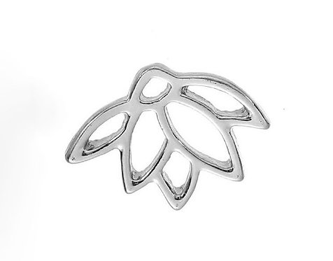 Mini Lotus Flower - Silver