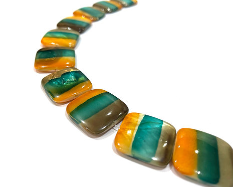 square shell beads