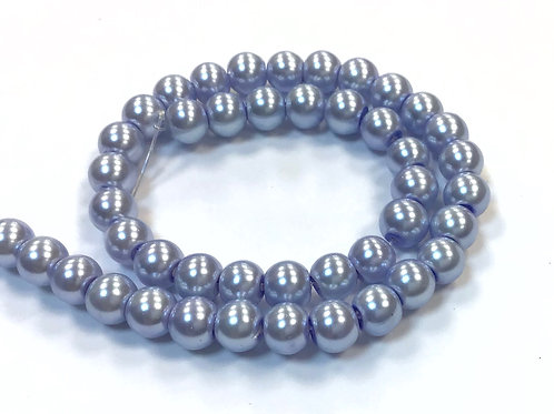 Glass Pearl Beads, Lilac - 6mm