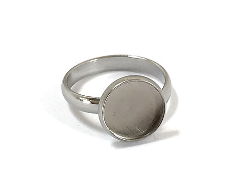 Stainless Steel Ring Setting - Fits 10mm