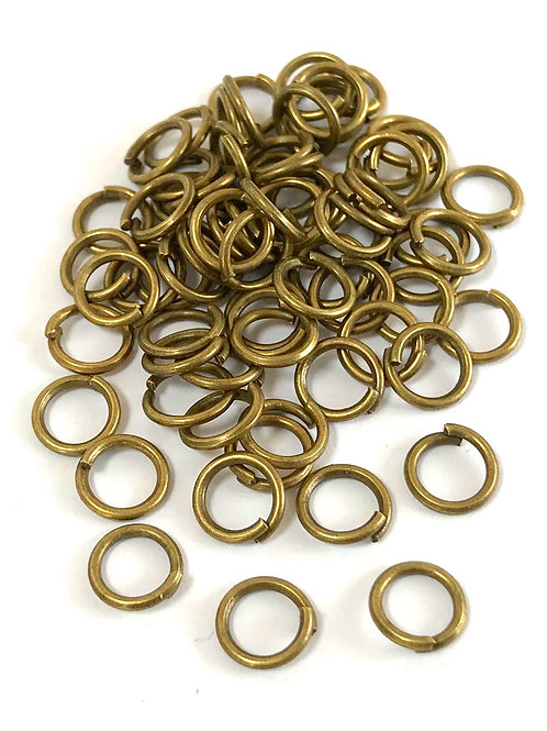 7mm Jump Rings - Bronze Plated