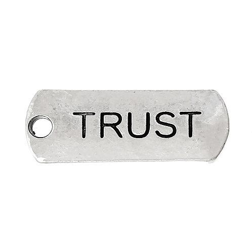 Charm Tag 'Trust' - Silver