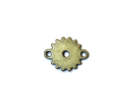 Cog/Gear Connector, Bronze Tone