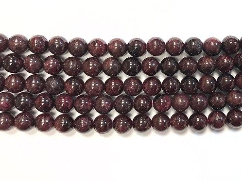 8mm Garnet Beads