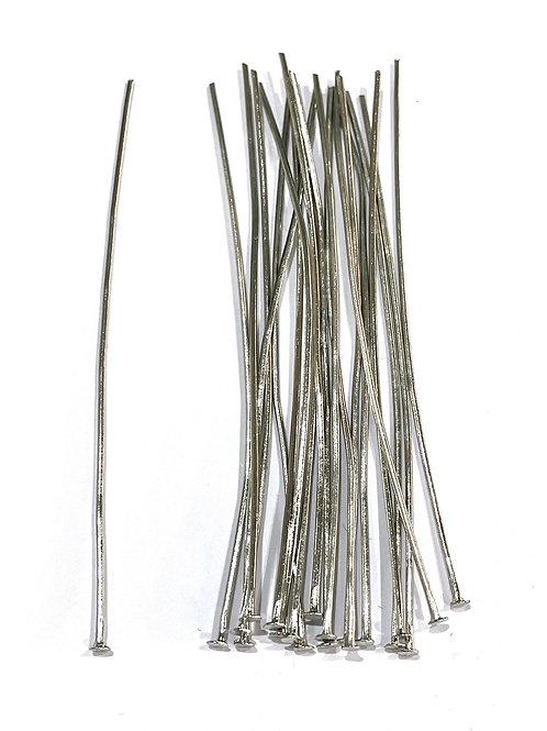 7cm head pins silver tone