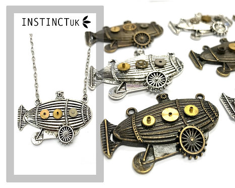 Airship Steampunk Necklace