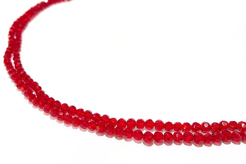 crystal glass red round beads 3.5mm