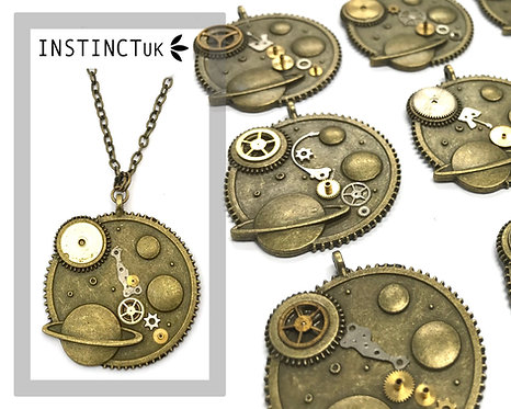 Universe Steampunk Necklace