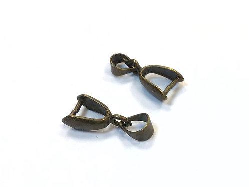 Bronze Pinch Bails - 17 x 7mm