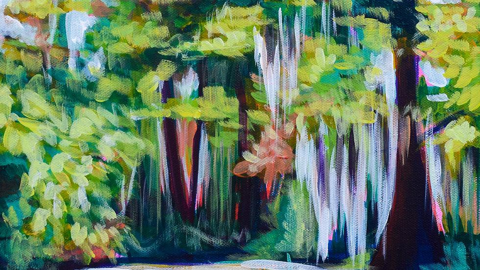 Swamp II painting
