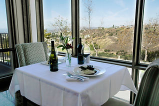 table for two by window with a view