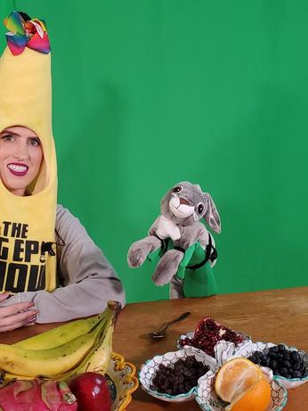 Banana Girl Loves Eating Healthy Fruits
