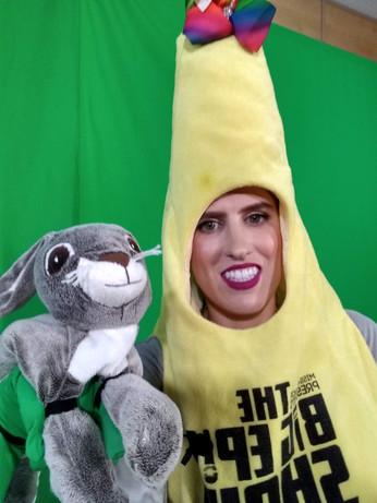 Banana Girl and Beau Bunny